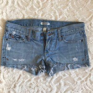 Abercrombie & Fitch cutoff jean shorts